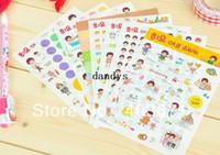 PVC animal deco - NEW cute girl happy life deco PVC sticker sheets set Decoration label