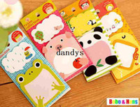 Wholesale New cute cartoon animal style II Notepad sticky note Memo pad message post