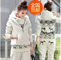 Wholesale 2013 Brand NEW Fashion Women s leisure trousers Waistcoat tracksuit fleece three piece suit