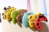 Wholesale Child kids Baby Animal Cartoon Jammers Stop Door stopper holder lock Safety Guard Finger Protecter