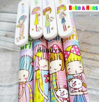 Wholesale New cute Cartoon ribbon girl gel ink pen amp ball pen Fashion Style Promotion