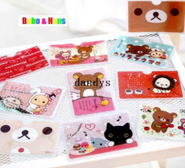 Wholesale Cartoon reliakuma bear Circus styles credit card holder card case for card Fashion gift