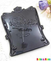 Wholesale New Creative Black rose make up Mirror portable pocket cosmetic mirror Fashion