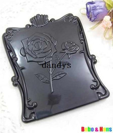 Wholesale New Creative Black rose make up Mirror portable pocket cosmetic mirror Fashion
