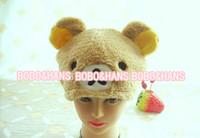 Wholesale new Soft Rilakkuma brown bear Plush Hat Fashion Gift hat