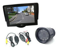 "Car Camera   Wireless IR Night Vision Reverse Backup Camera + 4.3"" TFT LCD SCREEN Monitor Car Rear View Kit"