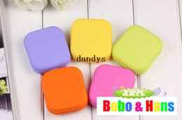 Wholesale new cute candy colors contact lenses box amp case lens Companion box