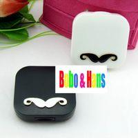 Wholesale new cute Mustache styles contact lenses case amp box lens Companion box