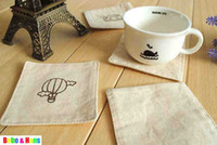 Wholesale New vintage simple style soft cup pad cup mat coaster Table Decoration amp Accessorie