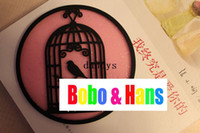 Bamboo bamboo bird cage - New Cute Bird cage style cup mat cup pad coaster Table Decoration amp Accessories