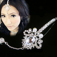 Rhinestone/Crystal belly dance accessories wholesale - 6pcs elegant crystal Tiara headpiece headwear hairwear floral headdress belly dance Wedding Bridal Jewelry hair accessories jt142