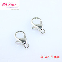 Valentine's Day Lobster clasps hooks silver plated Lobster Clasps Hooks Silver Sterling Zinc Alloy Metal Claw Clasp Jewelry DIY Finidngs Jewellery Making Accessories 10 12 14 18 21mm