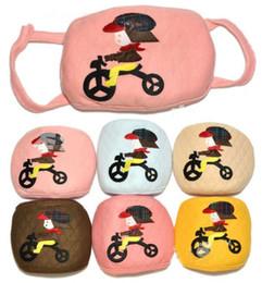 Wholesale NEW Baby Children Face Masks quot Bicycle Child quot Design Double Cotton Masks Kids Wear Accessories Mix Color
