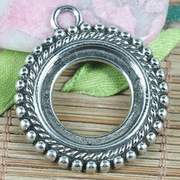 8pcs tibetan silver color 35x30mm spacer frame charms EF0191
