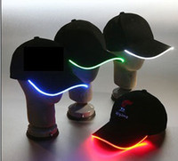 led light baseball cap - New Design LED Light Hat Party Hats Boys and Grils Cap Baseball Caps Fashion Luminous Different Colors Adjustment Size