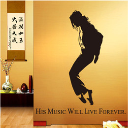 Wholesale DIY personalized WALL S MATTER Home Decor Michael Jackson MJ Wall Stickers Wall Decals