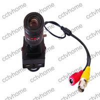 al por mayor cables de la cámara ccd-700TVL cámara Super 2090 + 811Sony CCD 6-15mm Manual de seguridad de la lente Video Wire Box CCTV cámaras