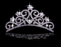 Cheap Twinkling Wedding Bridal Crystal Veil Tiara Crown Headband