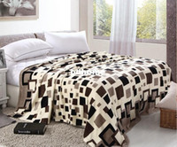 Wholesale Promotion High Quality Printed Check Soft Flannel Fleece Blanket Bed Throw Air Conditioner Blankets Moving Quilts
