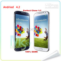 Wholesale 5 quot Cell phone MTK6577 dual core i9500 S4 SIV phone Android Jelly Bean GPS G M G single micro SIM card