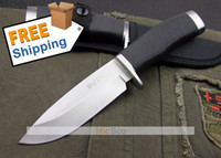 Wholesale 5pcs BUCK Hunting Knife Fixed Blade Straight Knife Camping Knife Survival Knife Silver Blade with Nylon Scabbard New in Original Box