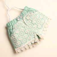 Casual - Girls lace shorts pants diamond Casual Pants Fashion Summer Shorts Child Clothing Kids Pants Girls Wear Baby clothes