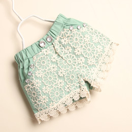 Wholesale Girls lace shorts pants diamond Casual Pants Fashion Summer Shorts Child Clothing Kids Pants Girls Wear Baby clothes
