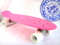 22inch Pink New Fresh PP Material 22 inch Penny Skateboard Nickel Penny Skateboards Skateboard Longboard Pink deck with white wheels