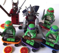 Wholesale Action Figures Minifigures a set suit with arms skateboard Mirage Teenage Mutant Ninja Turtles Kids latest assembling toys
