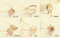 Women's fashion jewelry dropship - cheap fashion mischa barton charm jewelry for women designer heart pendant necklaces dropship accessories factory