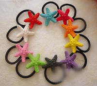 Wholesale Cute Resin Starfish Hair Band Beautiful Girl s Hair Accessories Candy Jewelry HJ012