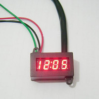 Wholesale V Red LED Digital Electric Clock For Car Motorcycle SH