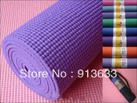 Wholesale 6mm mm slip resistant solid color pvc yoga mat situational pad backpack