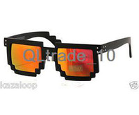 Wholesale Revo Lens Red Yellow Mirror Pixel Square Minecraft Mosaic Sunglasses Pixelated TV207