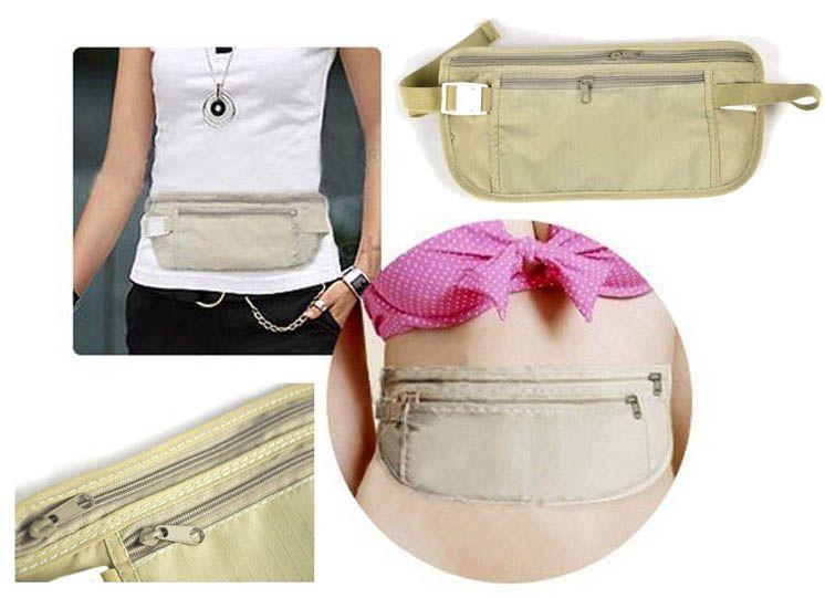 2013 new hot hidden pocket wallet travel ultra thin personals port nylon wiast bag packs outdoor for Travel gear hidden pocket