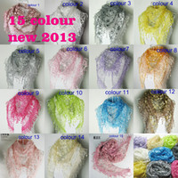 Wholesale Min order High Quality sale new women fashion Rose lace triangle pendant scarves shawls colors