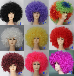Wholesale Human Hair Wig Afro Wig Fancy Dress Party Funky Groovy Fans Hair W35923