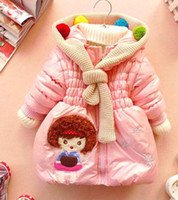 Wholesale Children Girls Cartoon Colorful Fur Ball Knitted Scarf Collar Cute Wrinkle Quilted Autumn Outwears B1131