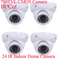 Wholesale 4pcs TVL CMOS Indoor IR Surveillance Dome Camera Video CCTV Security Camera IR CUT