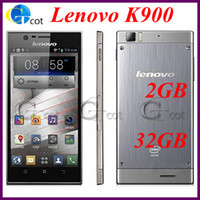 32G Lenovo 5.5 Lenovo K900 Multi-language 2GB RAM 16GB 32GB ROM Android cell phone 5.5inch AH-IPS FHQ Screen Intel Atom 2.0GHz Smartphone 13.0MP camera