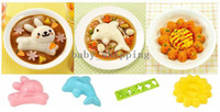 Wholesale Rabbit dolphins die four sets of rice bento sushi rice abrasive kitchen DIY Kit
