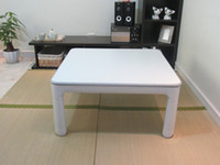 Wholesale KT60 foldable extendable legs reversible top white grey heated kotatsu table