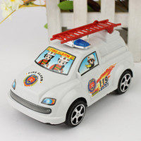 Plastics   Creative Gifts Pull String Fire Truck Wind-up Toys Rope Car Model Christmas Gifts Educational Toys Baby Favorite