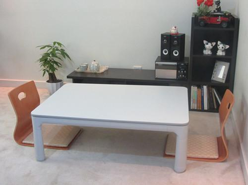 2017 White Coffee Table Furniture Folding Legs Rectangle 105cm Top Reversible Casual Foot Warmer