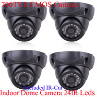 Wholesale 4pcs TVL CMOS IR CUT Indoor IR Security Surveillance CCTV Dome Camera Video Camera