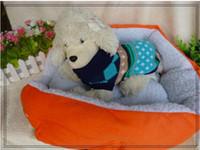 Образец заказа новой собаки гнездо собаки любимчика дом кровать собаки хлопка кинологический Цвет розы красный / оранжевый / синий / коричневый / желтый L175