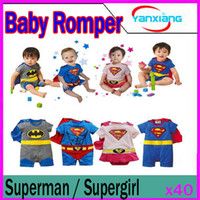 Spring / Autumn baby smock - DHL Baby Girl Boy Superman SUPERGIRL Romper Baby Dress Smock Baby Cloak Infant RW CC