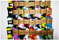 Wholesale HUF Plantlife sports socks men socks stockings cotton sock streetwear hip hop sock long double layer Weed Crew Marijuana leaf classic color
