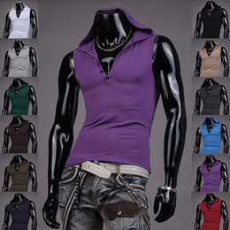 Wholesale Mens T Shirts Weste Undershirt Spaghetti Strap Tank Tops Slim Man Hoodie Muscle Vest New S M L XL T