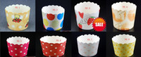Wholesale lastest cm colorful cupcake baking paper cup muffin cases mold bear high temperature for wedding Halloween party EMS